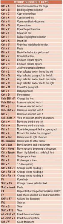 Word Keyboard Shortcuts interesting tips life hacks good to know Word Shortcut Keys, Computer Shortcut Keys, Computer Help, Computer Tips, Computer Keyboard, Computer Programming, Keyboard Symbols, Computer Hacking, Computer Station