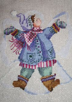 Giggles in the Snow boy completed by DianthusMoon, via Flickr