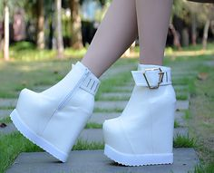 Autumn and winter new high heels Thickness inside the high shoes wedge heel wedge Bare Boots 15cm-in Ankle Boots from Shoes on Aliexpress.com | Alibaba Group
