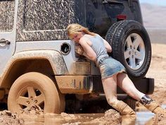 There's An Astonishing Number Of Beautiful Women Who Love Muddy 4x4s