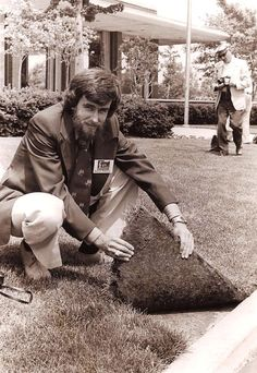 Turf researchers grew a lawn on concrete just to prove that you can have a decent lawn in spite of your soil. (Note: Before you make fun of my hair or tie, show me a picture of you in the 70's.)