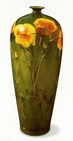 Franz Bischoff, California Poppies Vase