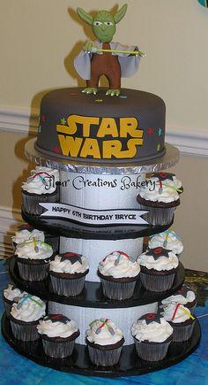 Star Wars Birthday Cake and Cupcakes | Flickr - Photo Sharing!