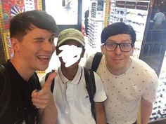 when dan sprayed himself in the eye with deodorant you can see Dans pain and phil worry...just a little