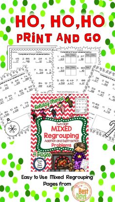 Do you need to spread some Holiday cheer into your math this year?  Check out these Print-and-Go pages for Mixed Regrouping! Then, check out the rest of my great math products at The Best Days!
