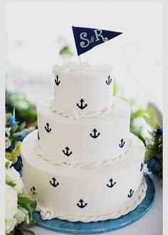 Great cake for a clam bake or oyster roast!  Cake ahoy!