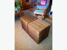 Seagrass Ottomans (pair) $60