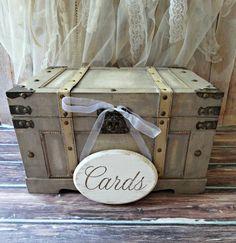 Trunk-extra large-wood-wedding-card holder-car by MorganTheCreator