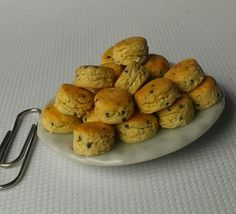 Magenta Miniatures- miniature food, scones made from polymer clay.