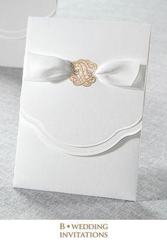 Glamorous wedding invitations//