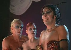 rocky horror picture show, film, 1970s, 1975, tim curry, nell campbell, peter hinwood
