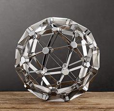Polyhedron Model Polished Nickel