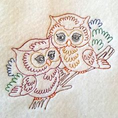 Free Embroidery Design: Colorline Owl