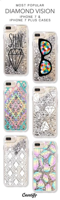 Most Popular Diamond Vision iPhone 7 Cases & iPhone 7 Plus Cases. More liquid glitter iPhone case here > www.casetify.com/...