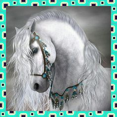 Fancy gorgeous horse