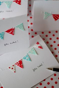 Bunting cards -sweet