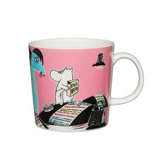 This product includes pink and blue Håll Sverige Rent Moomin mugs. The pink Håll Sverige Rent Moomin mug, Keep Waters Clean, and the blue mug Our coast, are ex Moomin Shop, Moomin Mugs, Christmas Wishlist 2016, Tove Jansson, Scandinavian Interior Design, Marimekko, Mugs Set, Halle, Decoration