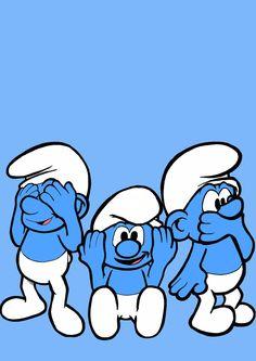 Three Wise Smurfs by JoeBullard