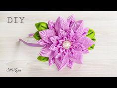 ОБОДОК КАНЗАШИ, МК / DIY Kanzashi Headband - YouTube