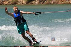 Fun in the sun waterskiing at Lake Powell http://www.lakepowellviewestates.com