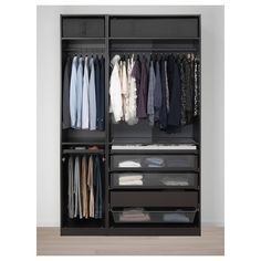 IKEA PAX Black-Brown, Forsand Black-Brown Stained ASH Effect Wardrobe