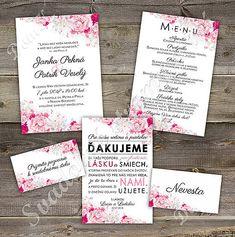 Svadobné oznámenie s pozvaním k stolu Peony 2 / DomK. - SAShE.sk - Handmade Papiernictvo Peonies, Paeonia Lactiflora