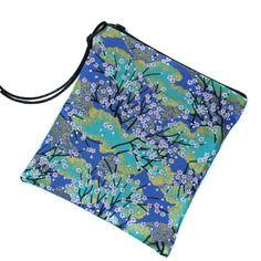 Pochette plate, trousse à maquillage, pochette maquillage, petite trousse, trousse en tissu japonais, trousse en tissu