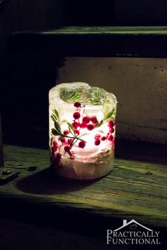 How To Make Ice Lanterns For Under $5! (Ice Luminarias) perfect for the south! Won't last but a while but oh so pretty!