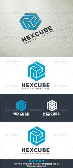 Hexa Cube Logo Template
