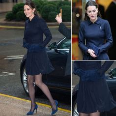 kate middleton fashions | Kate Middleton Navy Blue Outfit