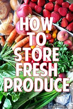 How to Store Fresh P