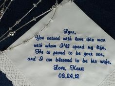 Gift for Mother of the Groom from Bride by InspiredStitches, $23.00