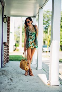 Sequins and Things: into the jungle - floral romper