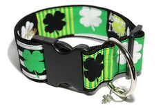 Help your favorite pup become pinch proof this year for St Patrick's day! This stylish clover themed collar has enough green to keep the pinches away! Your lucky little pooch will be so happy to get k