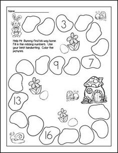 Print and Go! Easter Math and Literacy ~ Save yourself some ink and TIME. Bunnies and eggs abound on these sweet sheets that your kiddos will love. Easter theme without reference to the holiday. Covers lots of skills and differentiated to meet your div Kindergarten Prep, Kindergarten Math Worksheets, Preschool Learning, Kindergarten Classroom, Holiday Activities, Preschool Activities, School Closures, Math For Kids, Kids Education