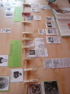What a great way to do a timeline with rope and clothes pin. Interactive and visual!