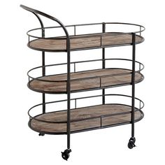 Serve trays of sparkling cocktails on this 3-tier cart for a Gatsby-worthy party display, or set it in the kitchen to stow dry goods and organize spices.