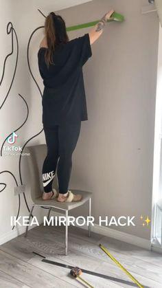 Cute Bedroom Decor, Diy Home Decor, Decor Home Living Room, Room Ideas Bedroom, Do It Yourself Ikea, Ikea Mirror Hack, Instruções Origami, Shoe Room, Ikea Home