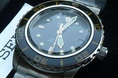 Brand New Seiko SNZH57 FFF Fifty Five Fathoms Blancpain Mod Homage Stainless | eBay