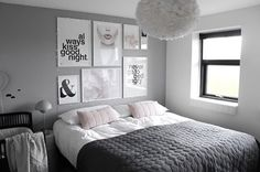 A gorgeous grey and pink bedroom - Is To Me