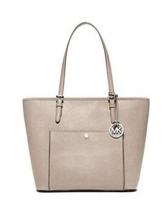 ab5ea030979b Michael Michael Kors Jet Set Large Snap Pocket Tote