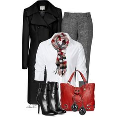 Plaid Scarf by christa72 on Polyvore featuring polyvore, fashion, style, Steffen Schraut, Reiss, Paul Smith, Laurence Dacade, Big Buddha and Bottega Veneta