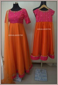 Mom and Me desigs by Angalakruthi Ladies and Kids boutique in Bangalore Mother Daughter Dresses Matching, Mother Daughter Outfits, Mommy And Me Outfits, Mom Daughter, Matching Family Outfits, Daughters, Photo Backdrops, Mom Dress, Kids Boutique