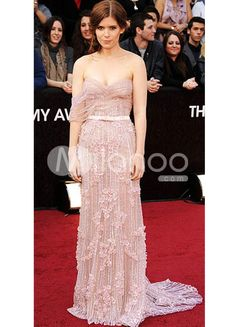 Pink Tulle Sweetheart A-line Kate Mara Oscar Dress