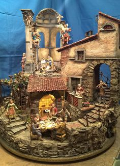 Pin by Katja Konga on Miniature t Diorama Nativity and Church Christmas Decorations, Christmas Nativity Scene, Christmas Villages, Christmas Art, Country Christmas, Xmas, Fontanini Nativity, Architectural Sculpture, Medieval Houses