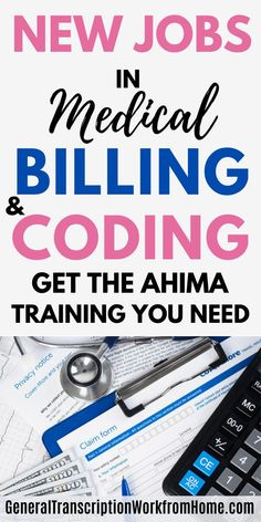 Get the Medical Billing and Coding Training You Need to Get AHIMA Approved and Get Medical Coding Jobs.  #medicalcoding #medicalbilling ahimacoding #certification #medicalcodingjobs #medicalbillingjobs #medicalcareers #workathome #affililiate Medical Coding Training, Transcription Jobs From Home, Medical Coder, Medical Billing And Coding, Medical Careers, Online Side Jobs, Best Online Jobs, Pharmacy Assistant, Mentor Program