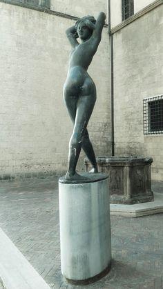 "Emilio Greco, ""Memoria dell'Estate"" (Memory of Summer), Tarquinia, 1990."