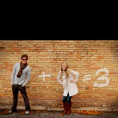 Use chalk to announce baby. How cute!