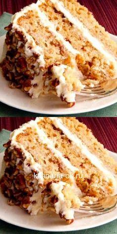 Hummingbird Cake Recipes, Baking Recipes, Dessert Recipes, Easy Cake Decorating, Sweet Pastries, Russian Recipes, Jamie Oliver, Food Cakes, Food Photo