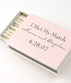 Cute wedding favor.